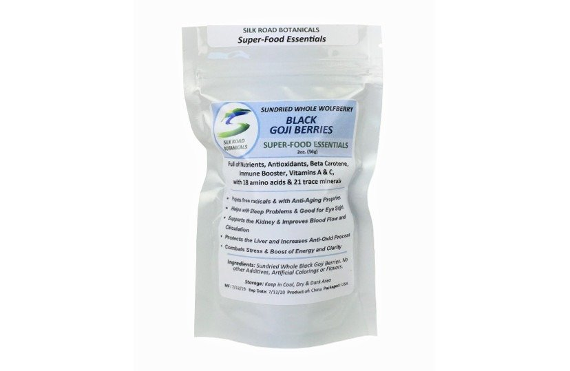 Natural Healthy Treasure Black Goji Berries Silk Road Botanicals
